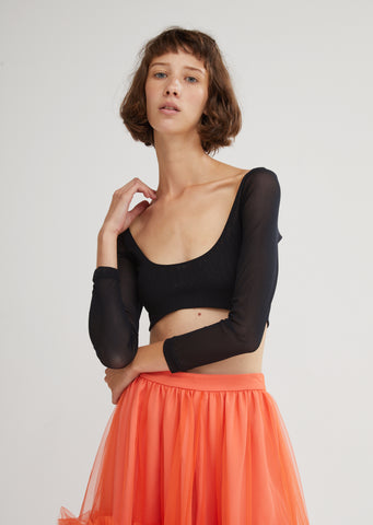 Katie Cropped Mesh Top