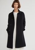Afro Fur Lined Wool Coat