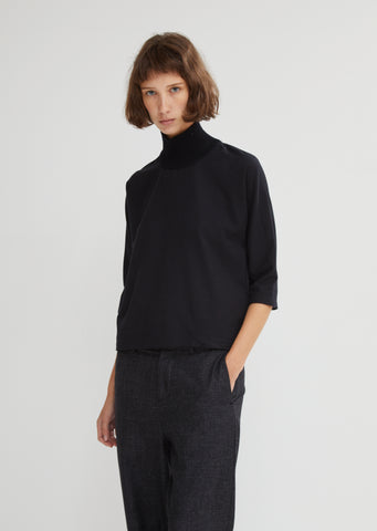 Laque Ribbed Neck Top