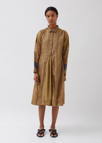 Silk Long Sleeve Shirtdress