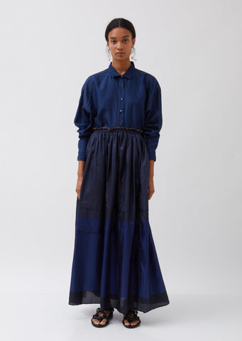 Silk Long Skirt
