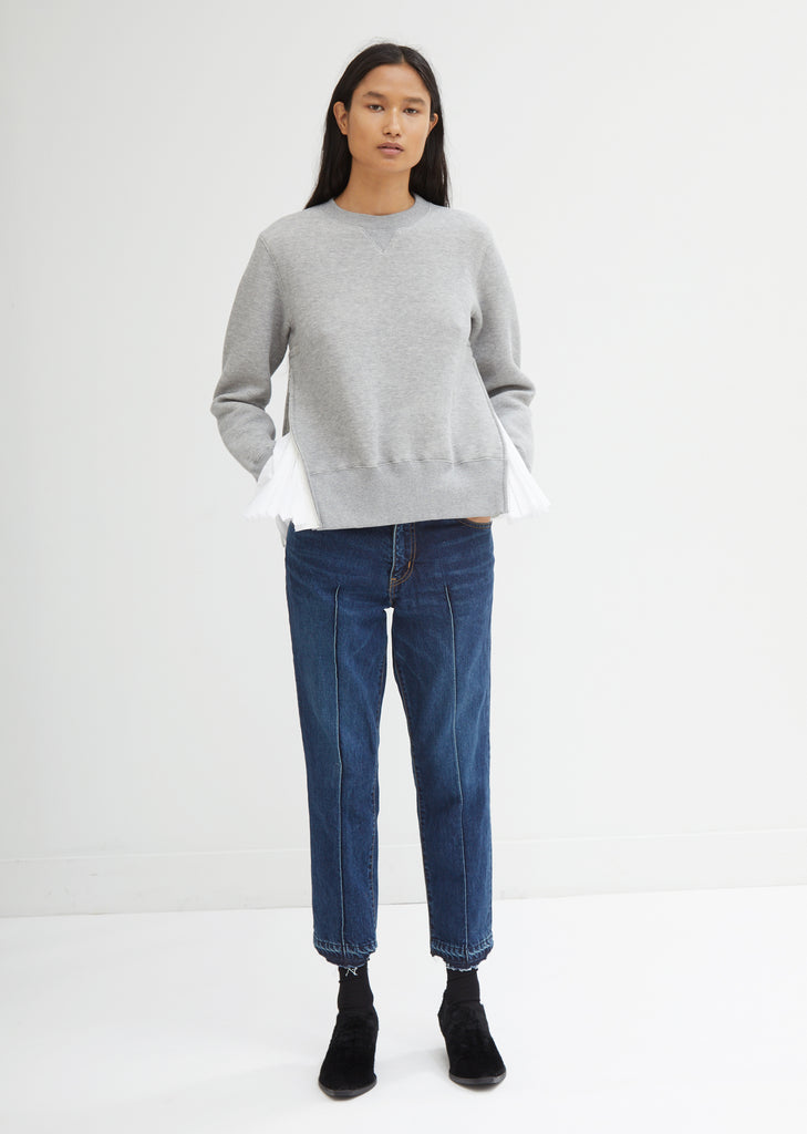Denim Pintuck Pants