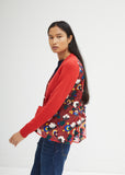 Flower Knit Mix Cardigan