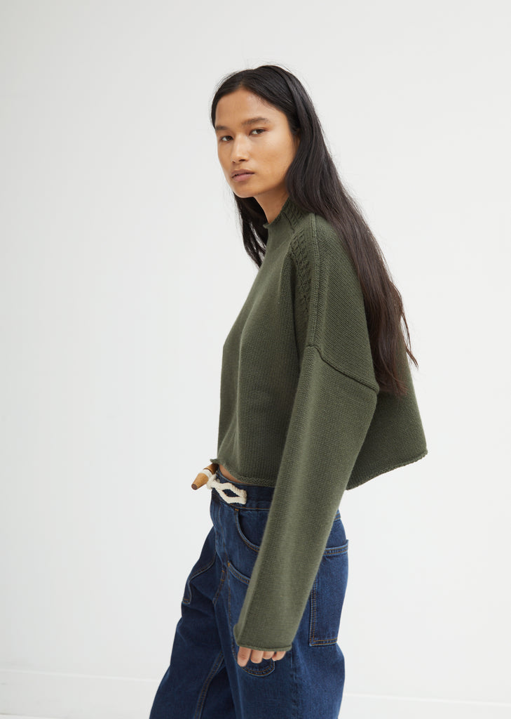 Shoulder Cable Detail Sweater