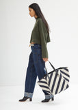 Canvas Stripe Belt Tote