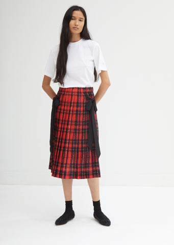 Pleated Skirt with Bows
