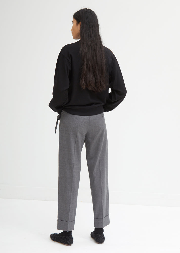Straight Trousers with Bow Pockets