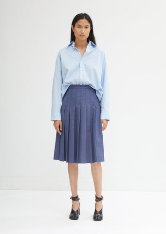 Grain De Poudre Pleated Skirt