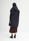 Wool Flannel Hooded Duvet Vest
