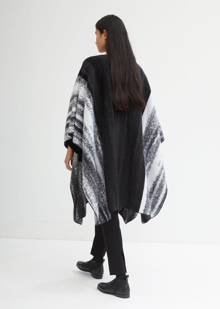Knit Cashmere Marbled Mantle