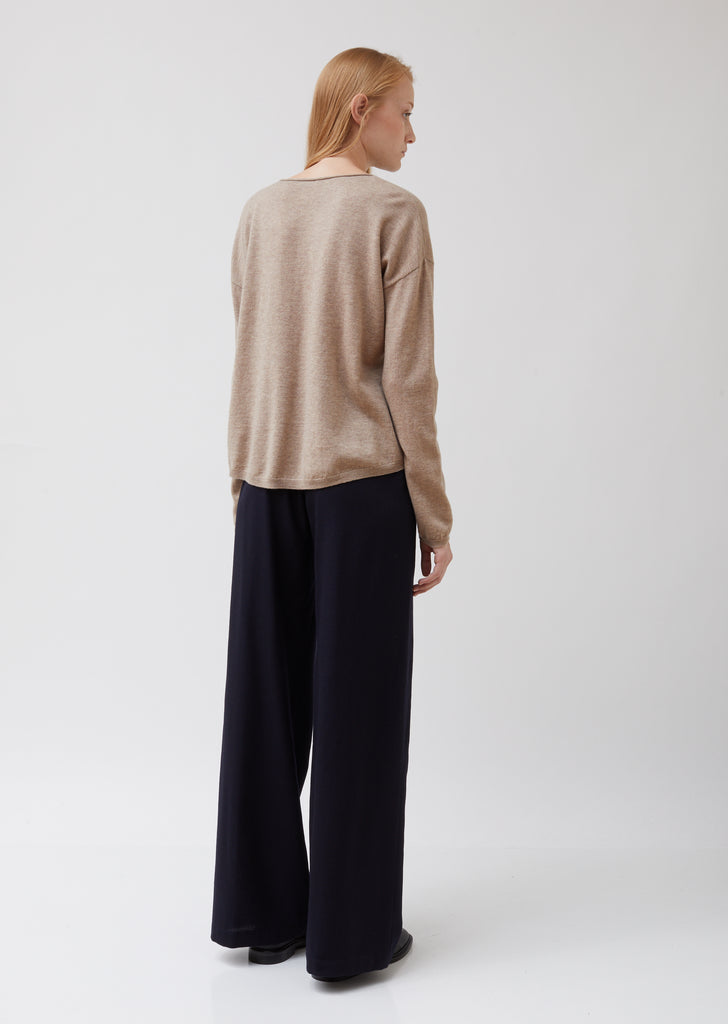 Wool Wide Neck Sweater