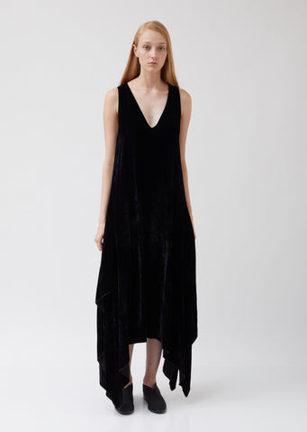 Velvet and Silk Square Dress