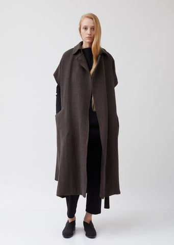 Cashmere Blend Sleeveless Trench