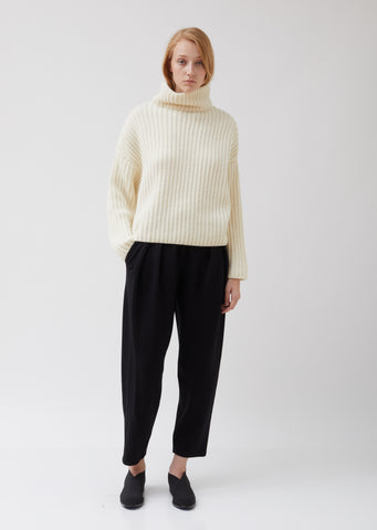 Jersey Pants with Pleats