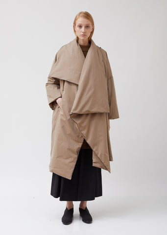 Water Repellent Mantle Duvet Wrap Coat
