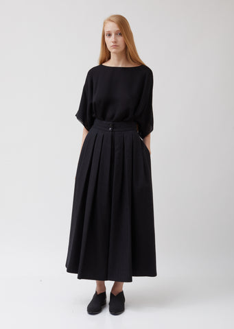 Wool High Waist Skirt Pants