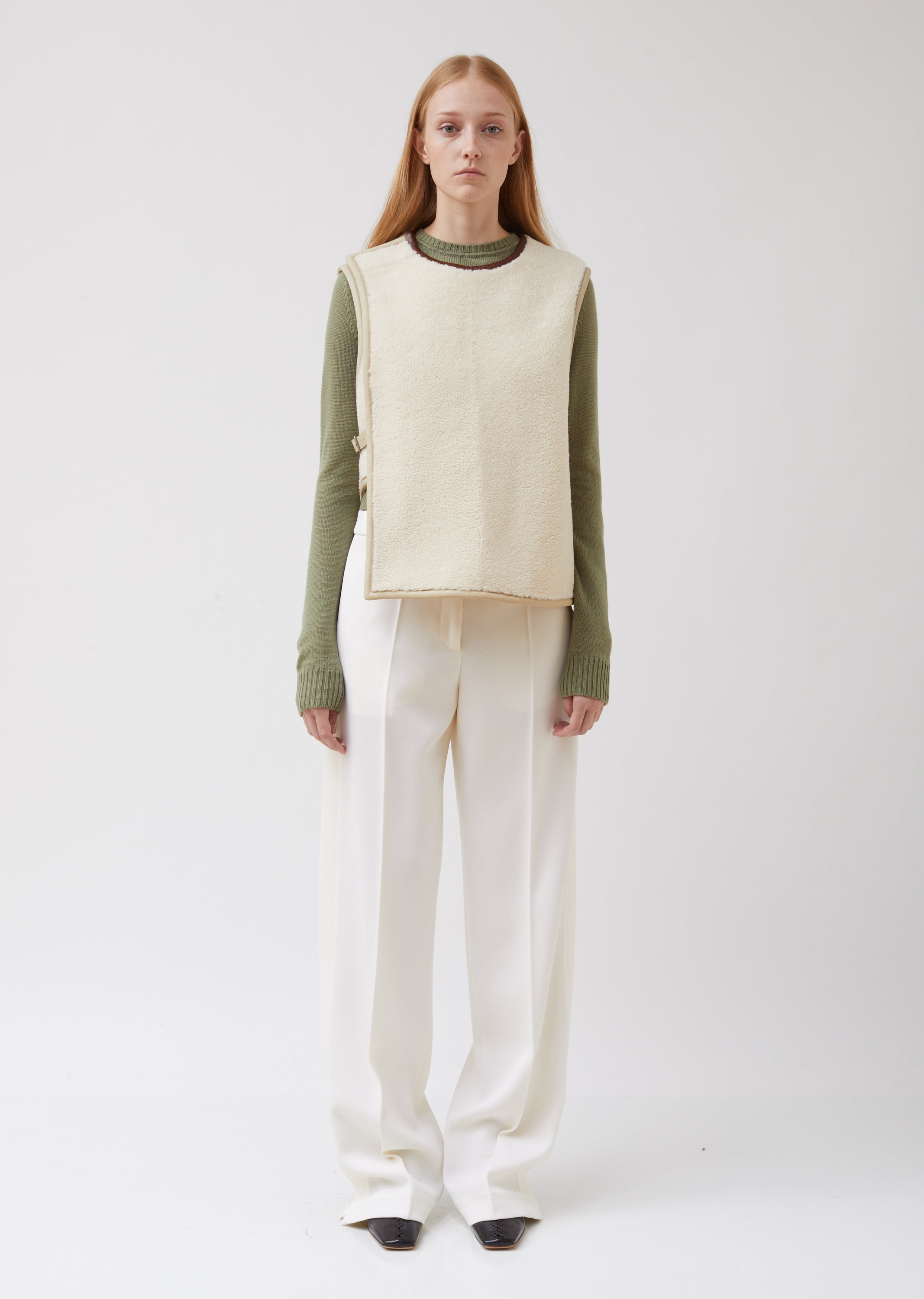 Lyle Lh Shearling Top