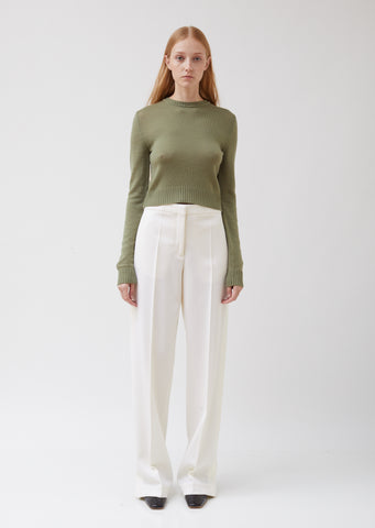 Gable Twill Wide Leg Trousers