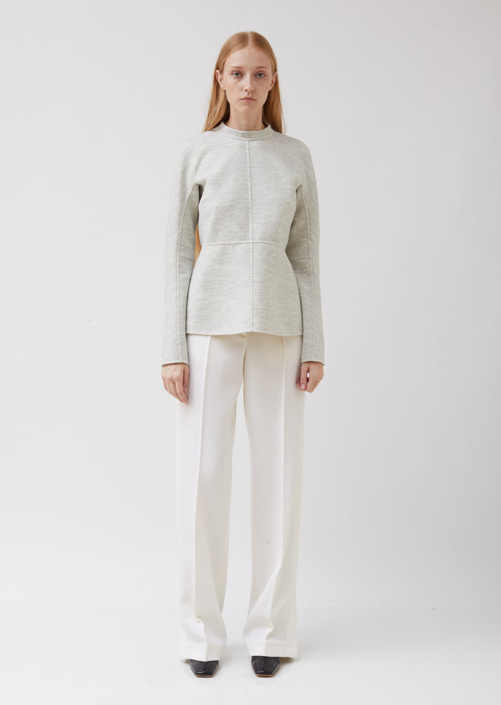 Paneled Soft Wool Top