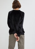 Crushed Velvet Sweatshirt