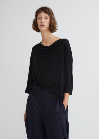 Wool Jersey Drape Top