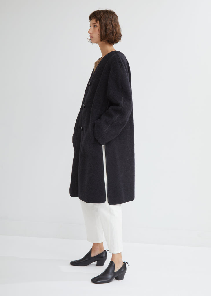 Soft Wool & Alpaca Melton Coat