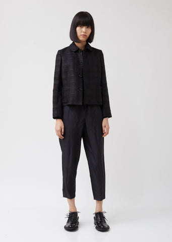Rayon Polyester Check Cutwork Jacket