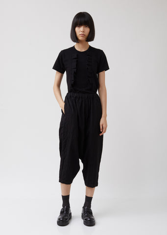 Wool Dobby Stripe A Pattern Garment Treated Pants