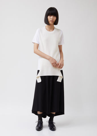 Apron Knit Short Sleeve T-shirt