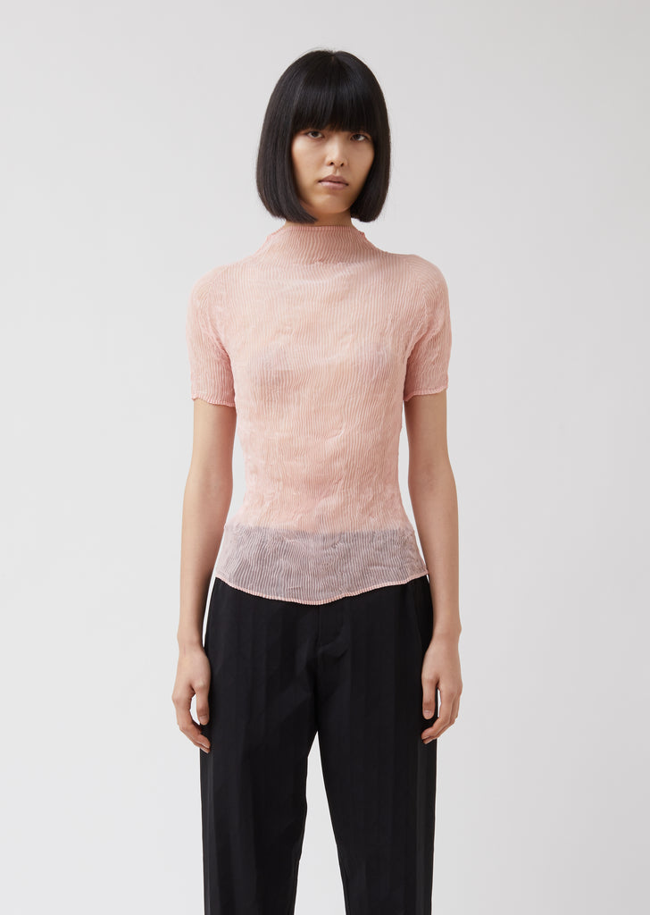 Chiffon Twist 2 Turtleneck T Shirt