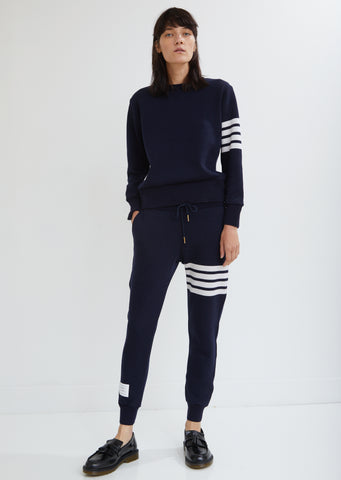 Stripe Cashmere Sweatpants