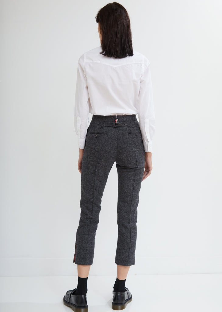 Shetland Wool Pintuck Trousers