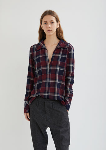 Maxi Long Sleeve Checked Shirt