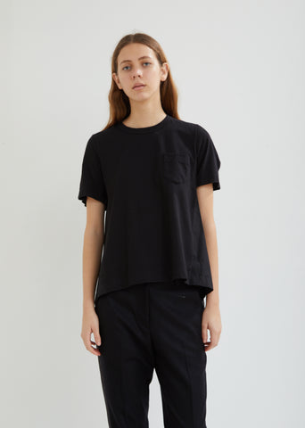 Shirting Flared Short Sleeve Top