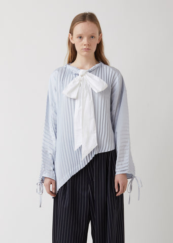 Accordian Garment Pleat Top