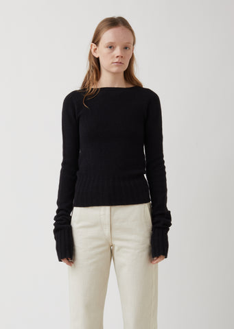 Boatneck Wool Sweater