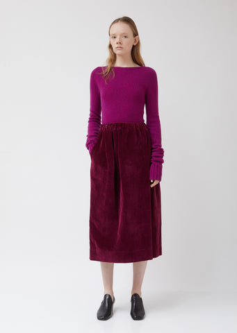 Velvet Elasticated Skirt