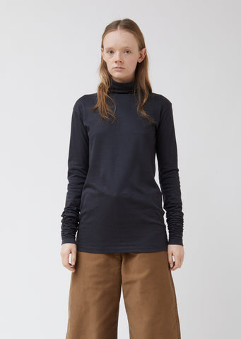 Grey Jersey Turtleneck