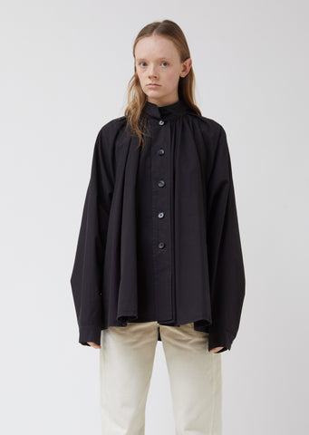 Flared Band Collar Shirt