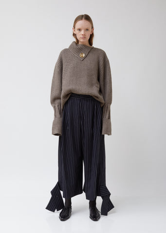 Hem Bow Wool Trousers
