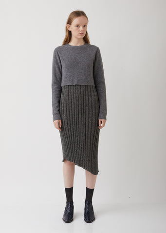 Tompe L Oeil Pleated Knit Dress