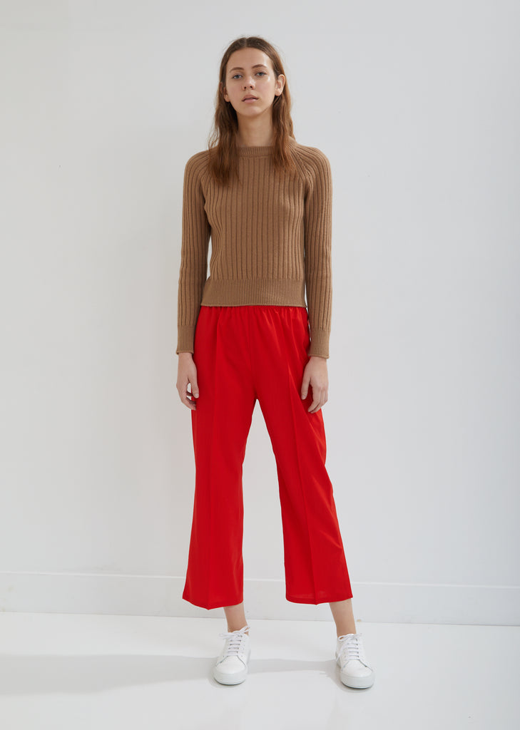 Pica Elastic Waist Cropped Pants