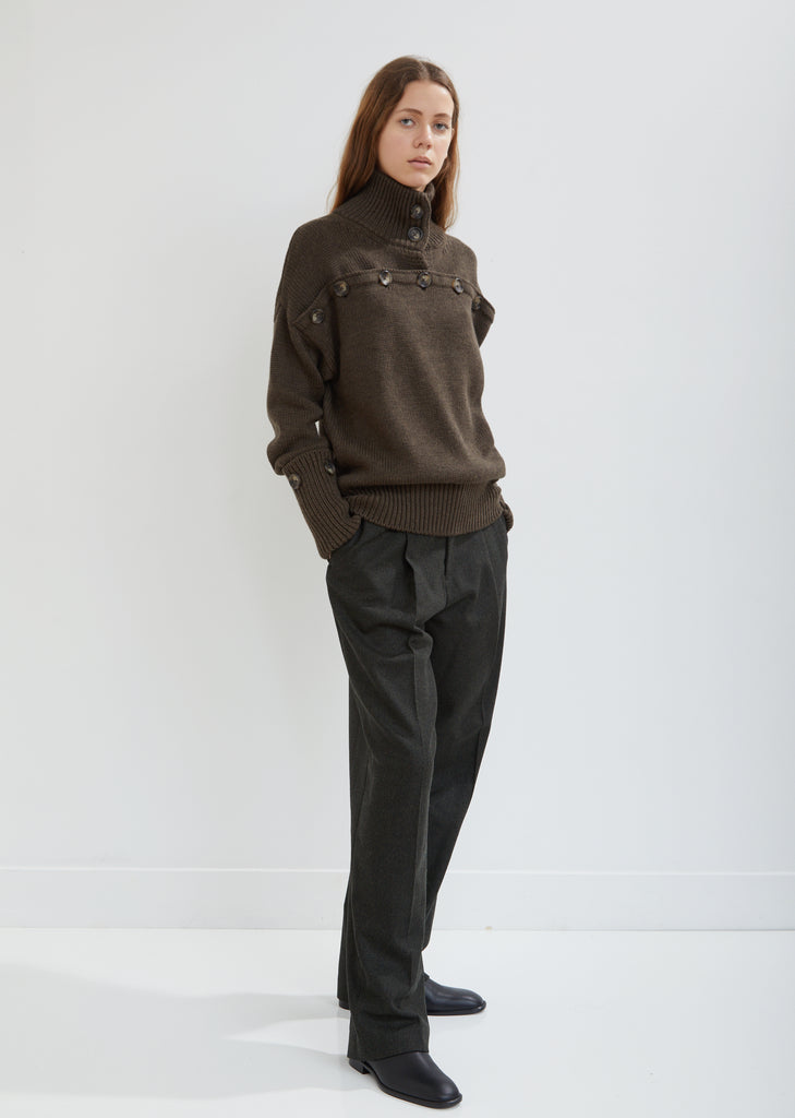 Riska Herringbone Trousers