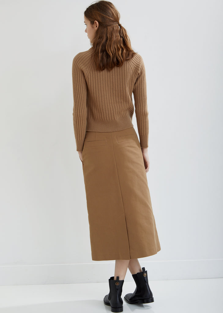 Essential Skirt with Leather Piping