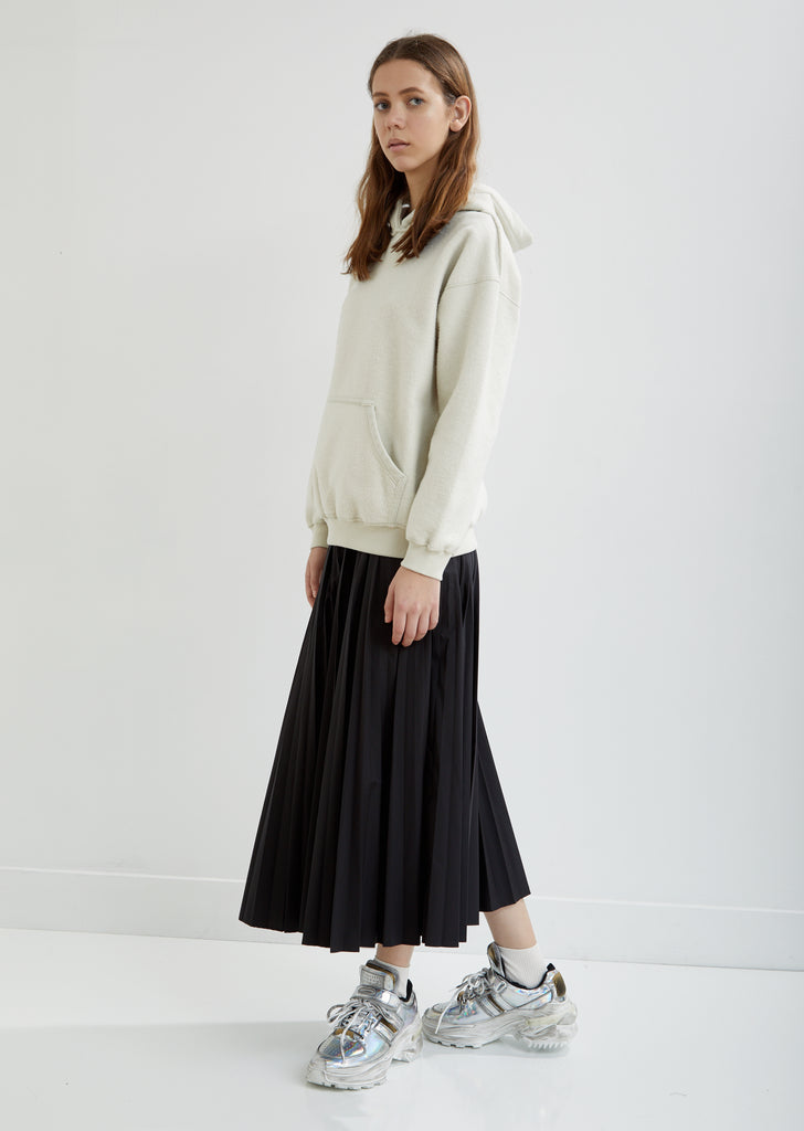 Poplin Pleated Skirt