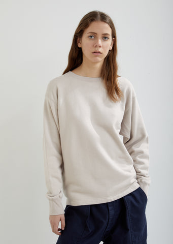 Relaxed Cotton Crewneck Sweatshirt