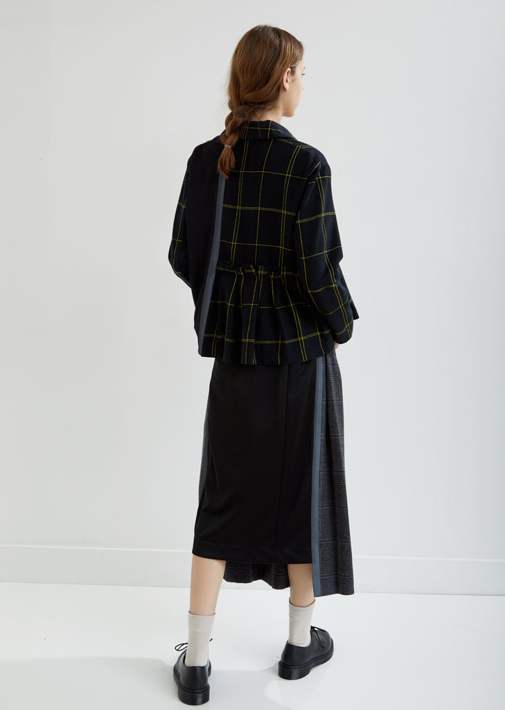 Pleated Check Jacket