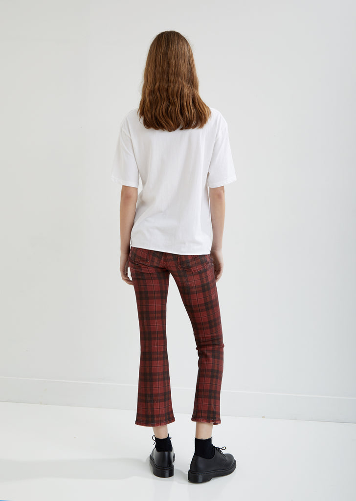 Kick Fit Red Plaid Jeans