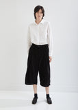 Marine Pleated Velvet Pants