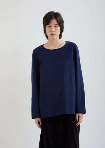 Haut Pyj Cotton Indigo Top